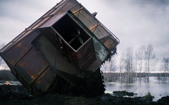 Abandoned peat extraction site near Moscow, Russia photo 7