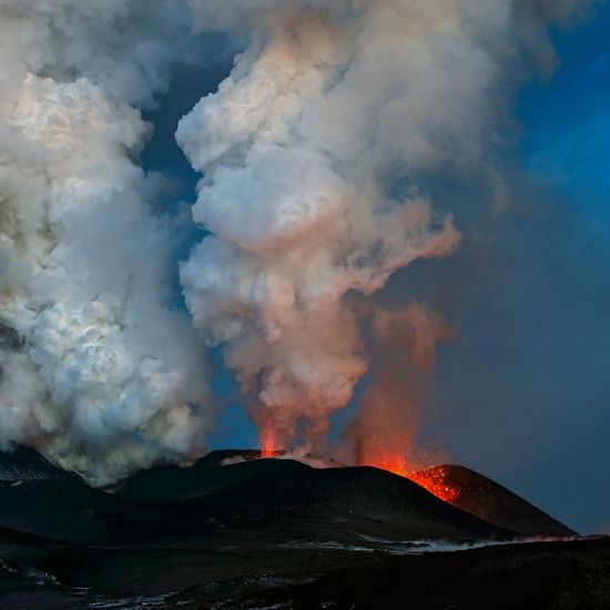 Plosky Tolbachik volcano eruption, Kamchatka, Russia photo 1