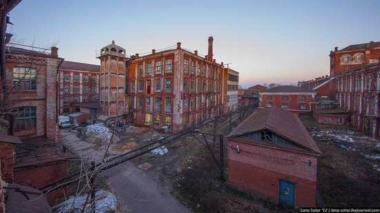 Abandoned textile factory that burned down, Russia photo 26