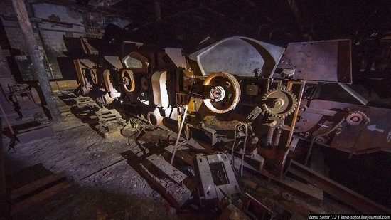 Abandoned textile factory that burned down, Russia photo 7