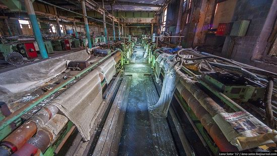 Abandoned textile factory that burned down, Russia photo 8