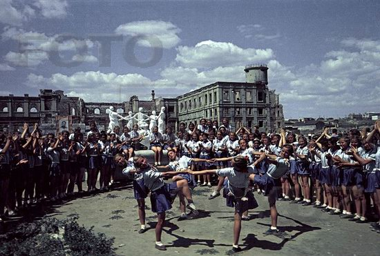 Athletic parade, Stalingrad, USSR, May 1945 photo 1