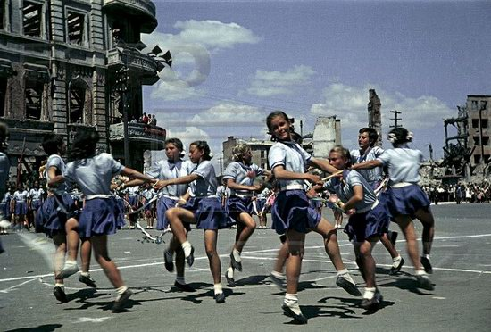 Athletic parade, Stalingrad, USSR, May 1945 photo 10