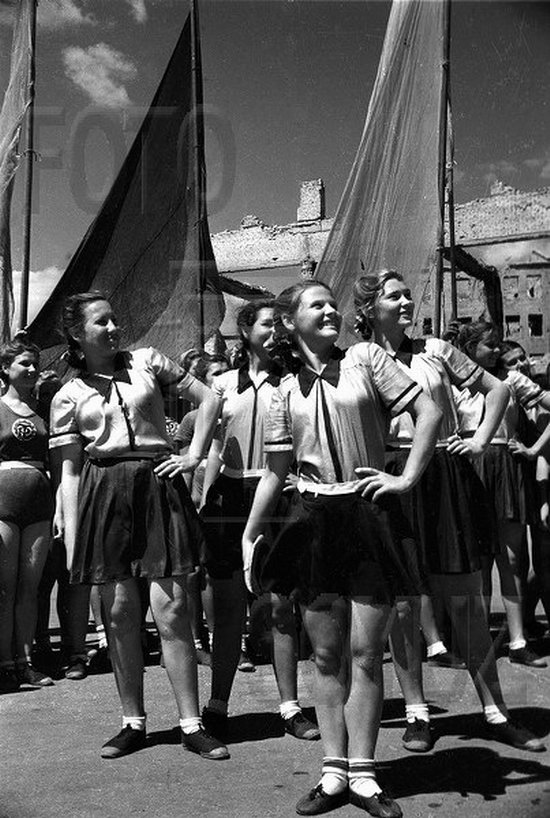 Athletic parade, Stalingrad, USSR, May 1945 photo 11