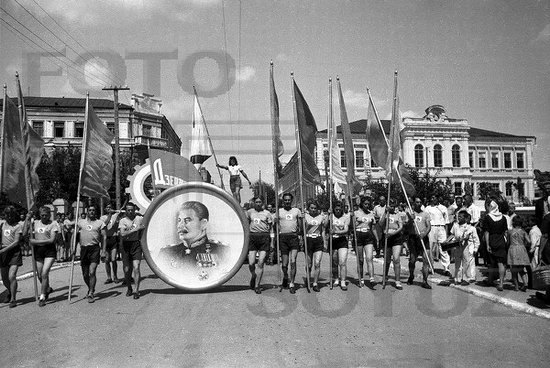 Athletic parade, Stalingrad, USSR, May 1945 photo 12