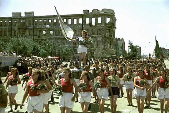 Athletic parade, Stalingrad, USSR, May 1945 photo 2
