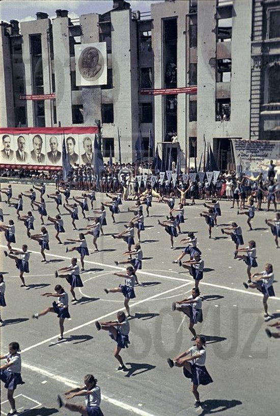 Athletic parade, Stalingrad, USSR, May 1945 photo 5