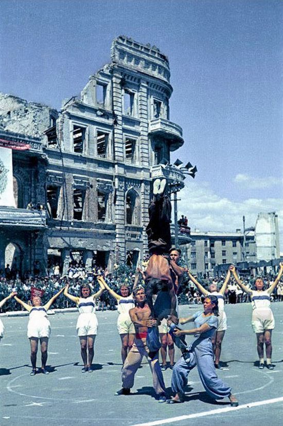 Athletic parade, Stalingrad, USSR, May 1945 photo 7