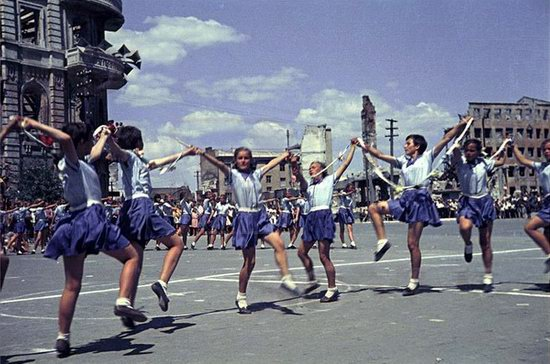 Athletic parade, Stalingrad, USSR, May 1945 photo 8