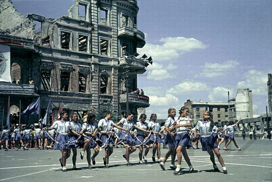Athletic parade, Stalingrad, USSR, May 1945 photo 9