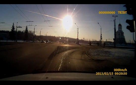 Meteorite explosion, Chelyabinsk, Russia