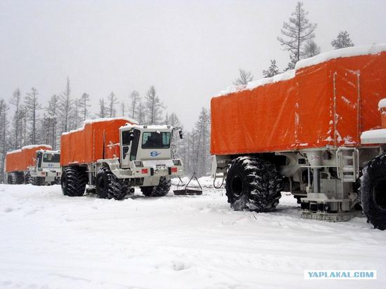 The life of a typical seismic prospecting crew in Russia photo 10