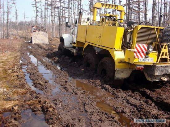 The life of a typical seismic prospecting crew in Russia photo 41