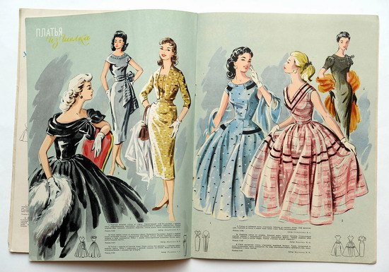Women's fashion in the USSR in 1957 picture 8