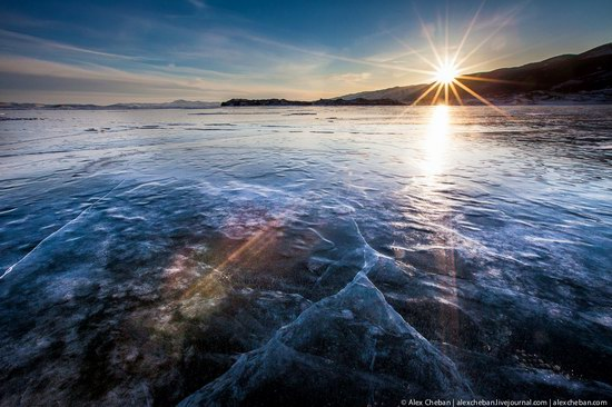 Beautiful ice of Baikal Lake, Russia photo 1