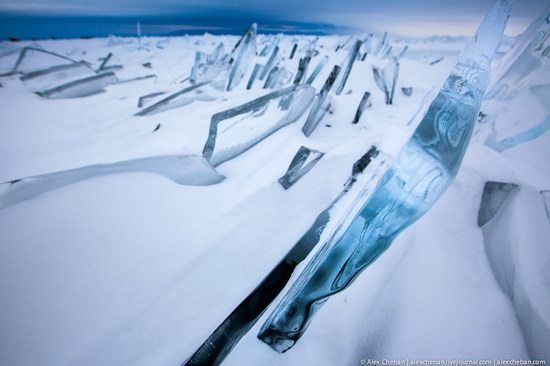 Beautiful ice of Baikal Lake, Russia photo 13