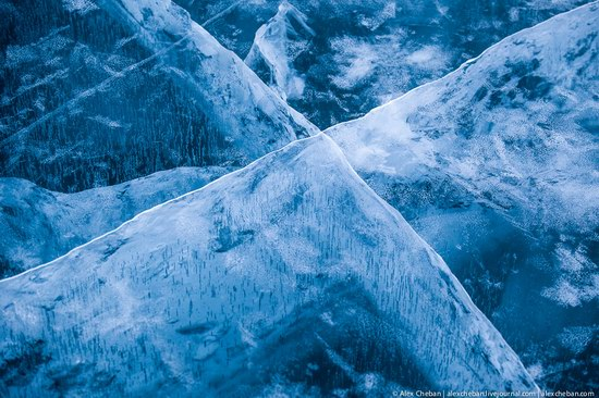 Beautiful ice of Baikal Lake, Russia photo 2
