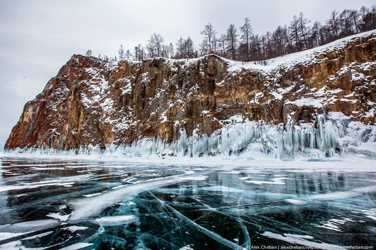 Beautiful ice of Baikal Lake, Russia photo 7