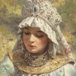 Russian beauty in the paintings of Konstantin Makovsky
