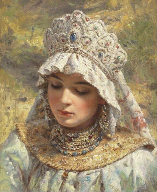 Russian beauty, Konstantin Makovsky