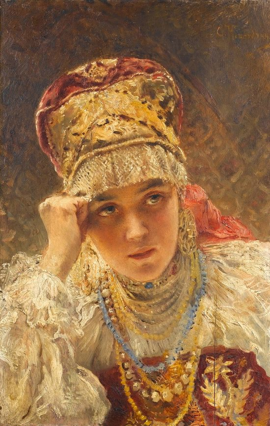 Russian beauty, Konstantin Makovsky painting 10