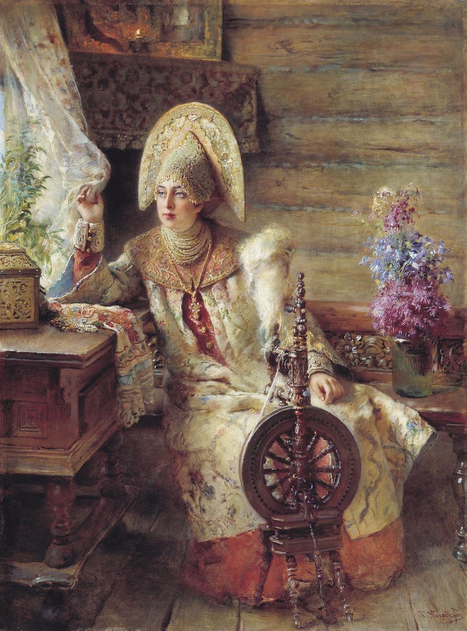 Russian Paintings Of Women Russian beauty in the ...