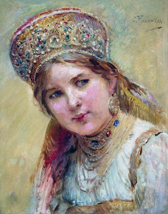 Russian beauty, Konstantin Makovsky painting 15