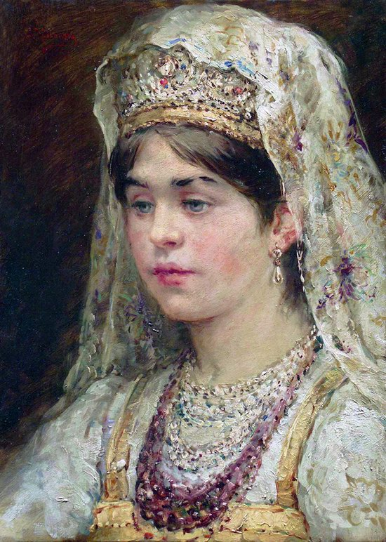 Russian beauty, Konstantin Makovsky painting 16