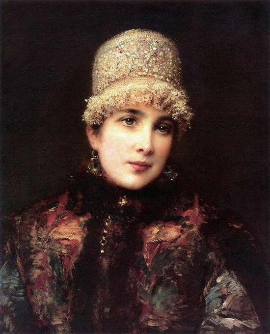Russian beauty, Konstantin Makovsky painting 18