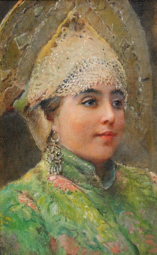 Russian beauty, Konstantin Makovsky painting 19
