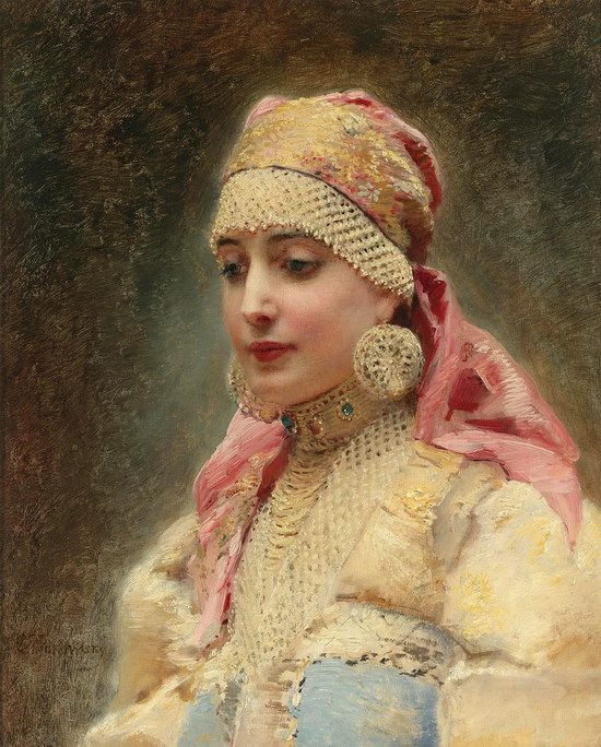 Russian beauty, Konstantin Makovsky painting 2