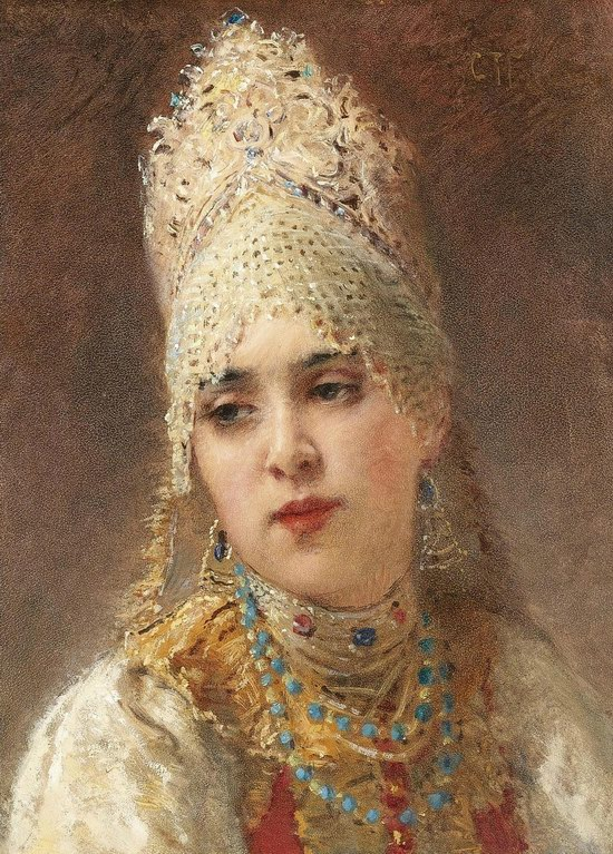 Russian beauty, Konstantin Makovsky painting 20