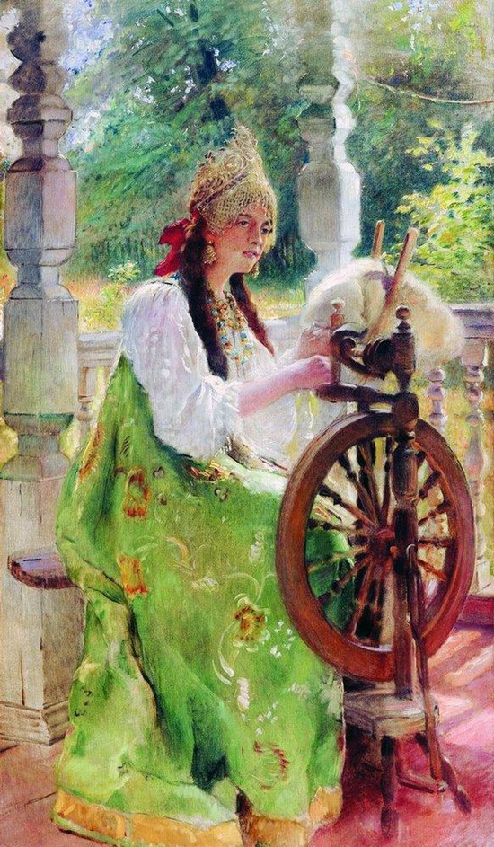 Russian beauty, Konstantin Makovsky painting 23