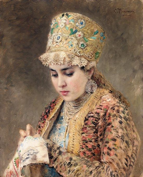 Russian beauty, Konstantin Makovsky painting 3