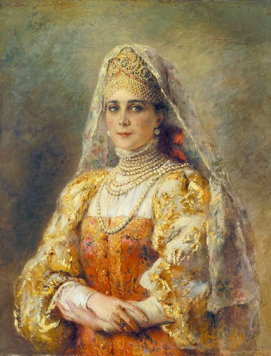 Russian beauty, Konstantin Makovsky painting 6