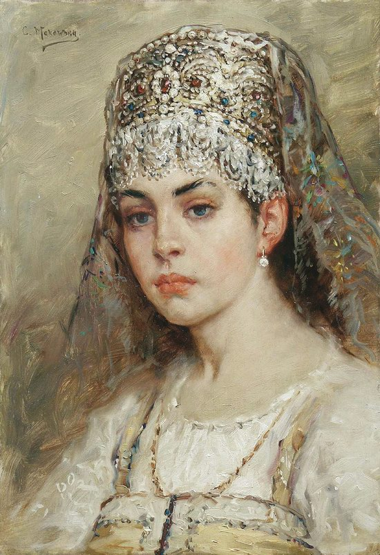 Russian beauty, Konstantin Makovsky painting 9
