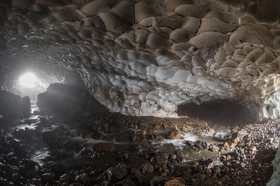 Beautiful snow cave in Kamchatka, Russia photo 17