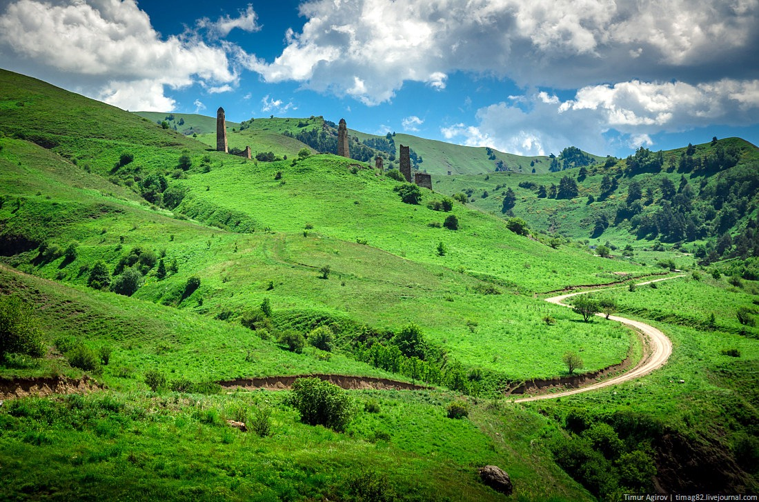 The beautiful scenery of the mountain Ingushetia · Russia ...