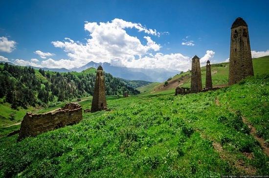 The beautiful scenery of the mountain Ingushetia, Russia photo 14