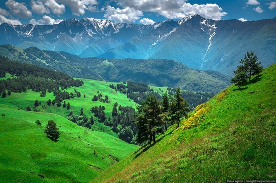The beautiful scenery of the mountain Ingushetia, Russia photo 21