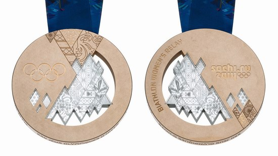 Bronze medal of the Winter Olympic Games 2014 in Sochi, Russia