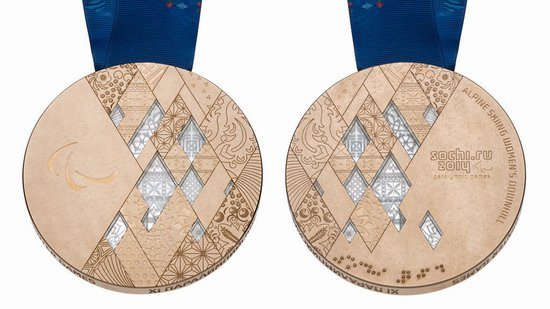 Bronze medal of the Winter Paralympic Games 2014 in Sochi, Russia