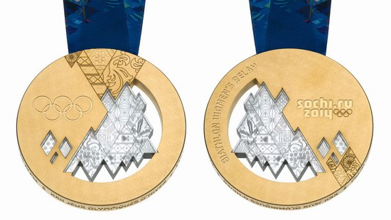 Gold medal of the Winter Olympic Games 2014 in Sochi, Russia