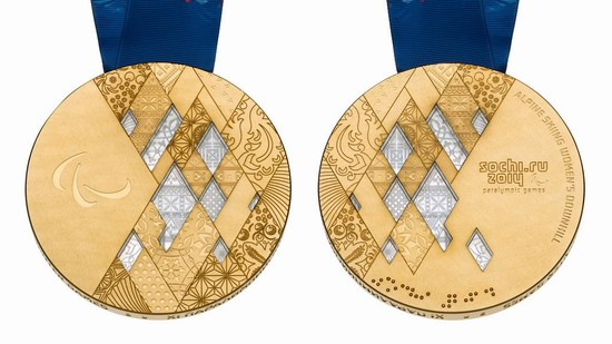 Gold medal of the Winter Paralympic Games 2014 in Sochi, Russia