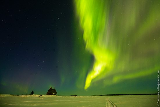 Northern Lights (Aurora Borealis) in the sky over Karelia, Russia photo 1