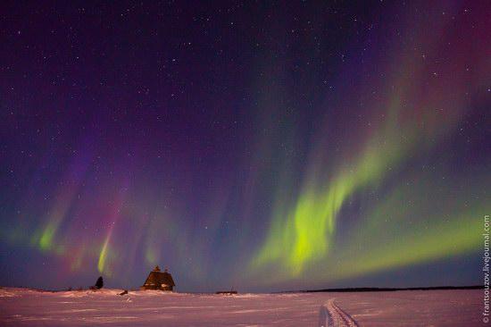 Northern Lights (Aurora Borealis) in the sky over Karelia, Russia photo 10