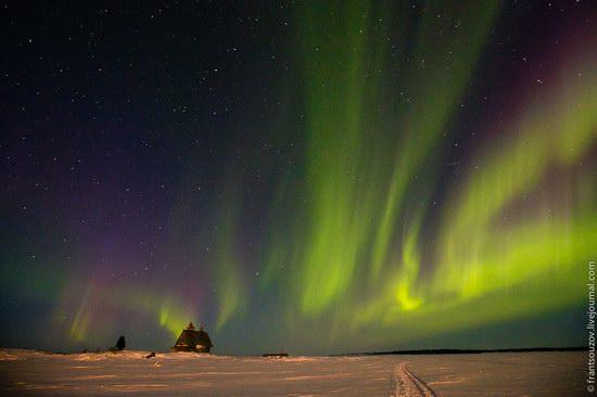 Northern Lights (Aurora Borealis) in the sky over Karelia, Russia photo 11
