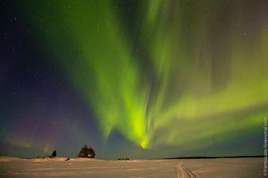 Northern Lights (Aurora Borealis) in the sky over Karelia, Russia photo 12