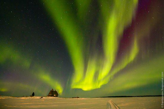 Northern Lights (Aurora Borealis) in the sky over Karelia, Russia photo 13