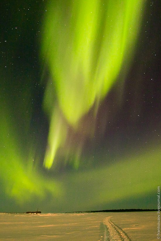 Northern Lights (Aurora Borealis) in the sky over Karelia, Russia photo 14